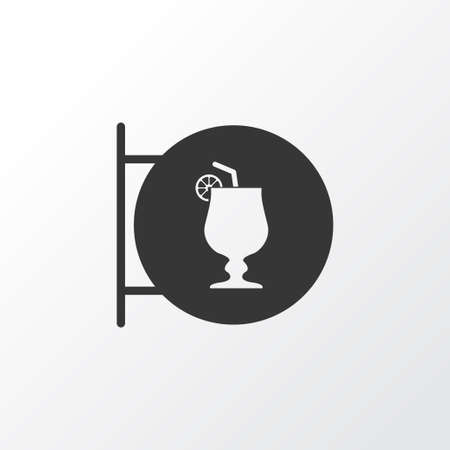 Cocktail sign icon symbol. Premium quality isolated nightclub element in trendy style.