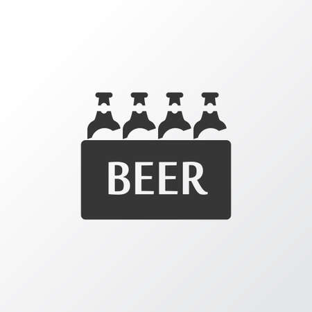 Ale box icon symbol. Premium quality isolated case of beer element in trendy style.