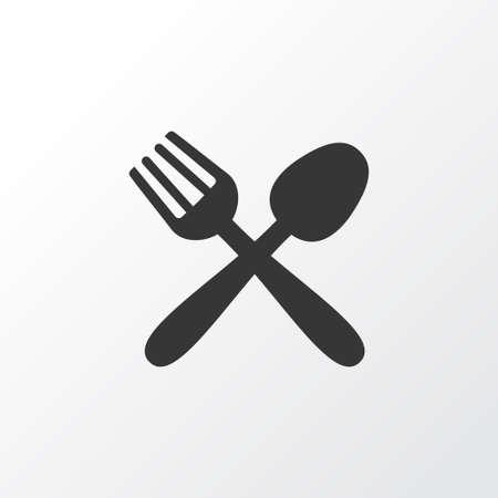 Food icon symbol. Premium quality isolated restaurant element in trendy style.