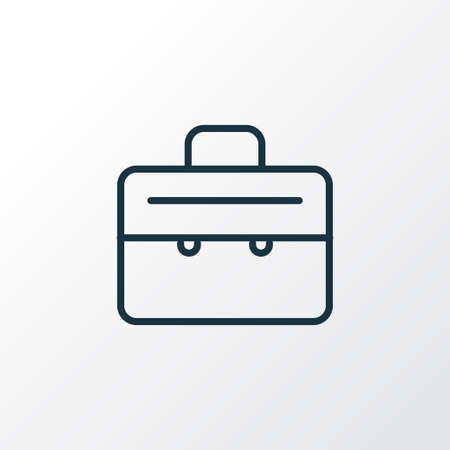 Suitcase icon line symbol. Premium quality isolated briefcase element in trendy style. Illustration