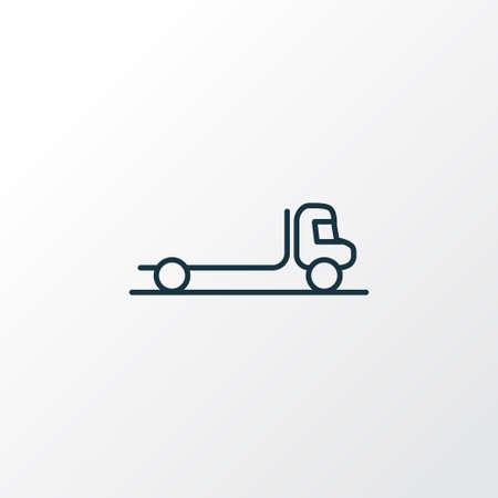 Flatbed truck icon line symbol. Premium quality isolated delivery element in trendy style.