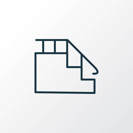 Stairs icon line symbol. Premium quality isolated ladder element in trendy style.