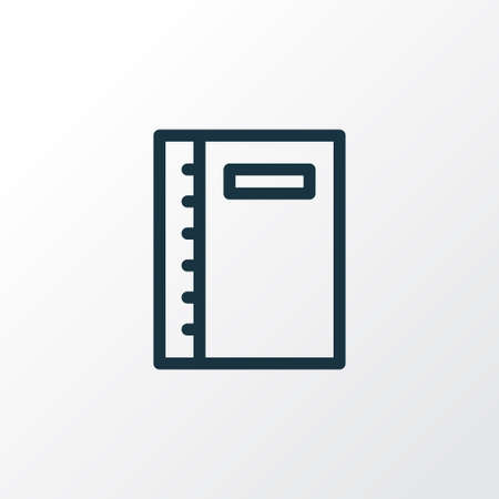 Notebook icon line symbol. Premium quality isolated notepad element in trendy style.  イラスト・ベクター素材