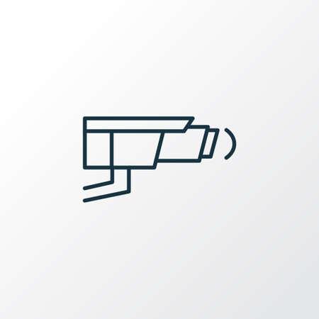 Video control icon line symbol. Premium quality isolated cctv element in trendy style. Illustration