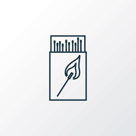Matchbox icon line symbol. Premium quality isolated matches element in trendy style. Banco de Imagens