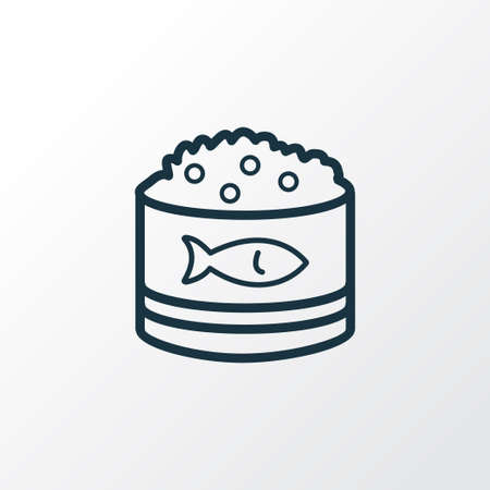 Caviar icon line symbol. Premium quality isolated roe element in trendy style.