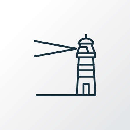 Symbole de ligne icône phare. Élément de côte isolée de qualité Premium dans un style branché.