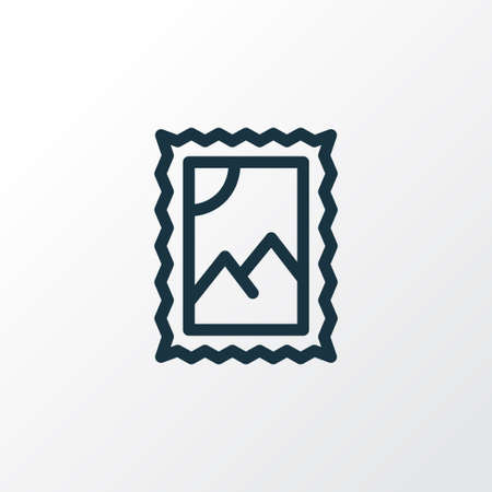 Post stamp icon line symbol. Premium quality isolated postmark element in trendy style. Ilustrace