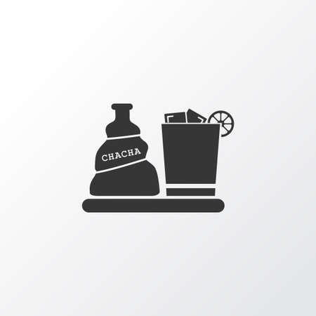 Liquor icon symbol. Premium quality isolated chacha with ice element in trendy style. Illustration