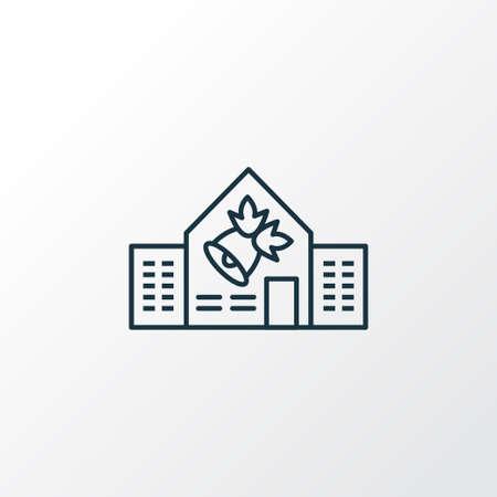 School icon line symbol. Premium quality isolated college element in trendy style.
