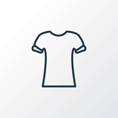 High bias roll icon line symbol. Premium quality isolated shirt design element in trendy style.