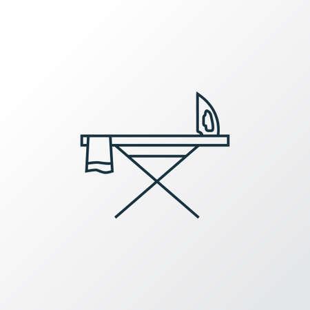 Bügelbrett Symbol Symbol Linie Symbol. Isoliertes Flatiron-Element in Premium-Qualität im trendigen Stil.