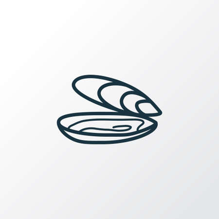 Oyster icon line symbol. Premium quality isolated shellfish element in trendy style.