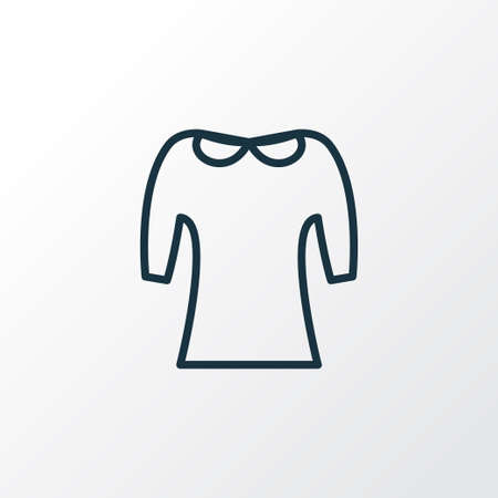 Peter pan collar icon line symbol. Premium quality isolated clothing element in trendy style.