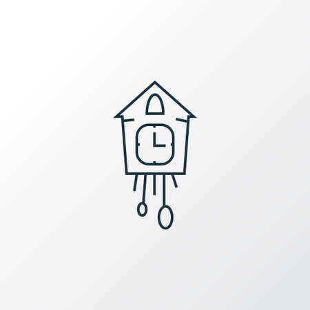 Cuckoo clock icon line symbol. Premium quality isolated wall watch element in trendy style.