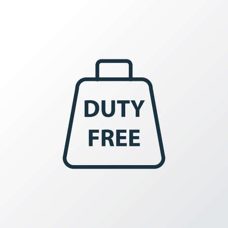Symbol für die zollfreie Zone. Isoliertes steuerfreies Element in Premium-Qualität im trendigen Stil.