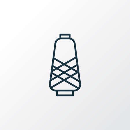 Symbol für die Spool-Symbollinie. Hochwertiges, isoliertes Spulenelement im trendigen Stil.