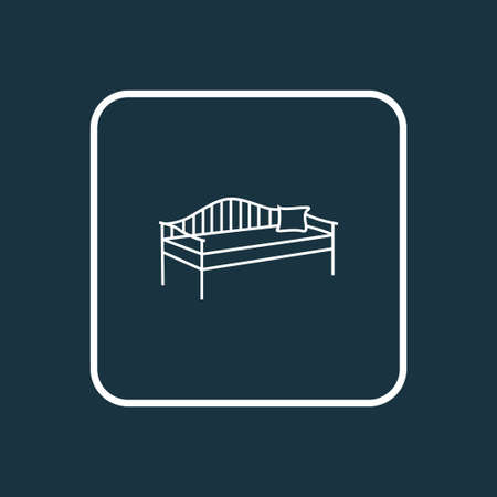 Daybed icon line symbol. Premium quality isolated divan element in trendy style.