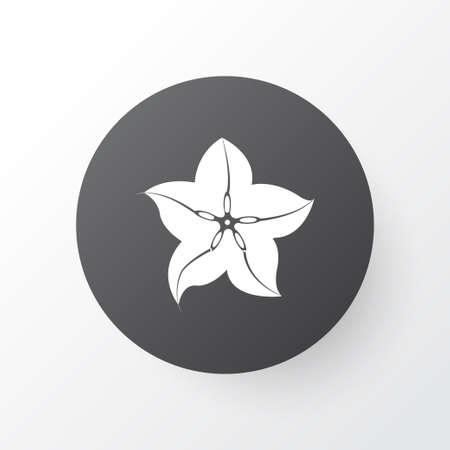Carambola icon symbol. Premium quality isolated starfruit element in trendy style.
