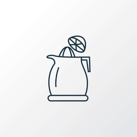 Juicer icon line symbol. Premium quality isolated squeezer element in trendy style.