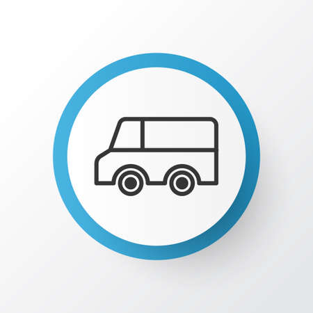 Truck icon symbol. Premium quality isolated lorry element in trendy style.