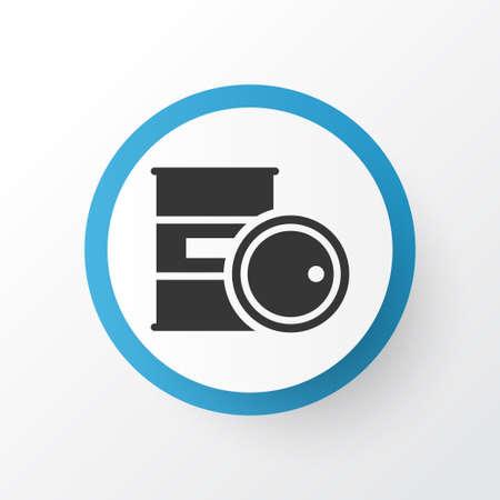 Barrel icon symbol. Premium quality isolated chemical storage element in trendy style. Illustration