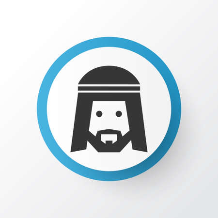 Muslim icon symbol. Premium quality isolated human element in trendy style. Vettoriali