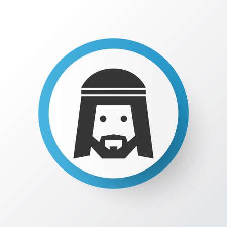 Simbolo dell'icona musulmana. Elemento umano isolato di qualità Premium in stile alla moda.