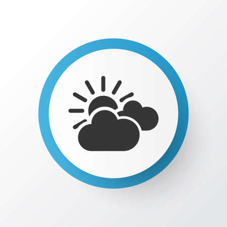 Sunset icon symbol. Premium quality isolated mainly cloud element in trendy style.