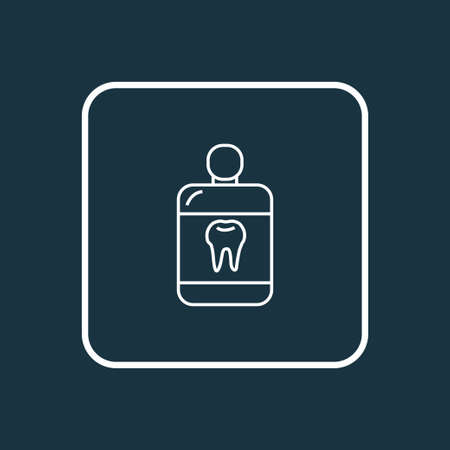 Mouthwash icon line symbol. Premium quality isolated cleanser element in trendy style. Illustration