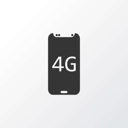 4g smartphone icon symbol. Premium quality isolated electronics element in trendy style.