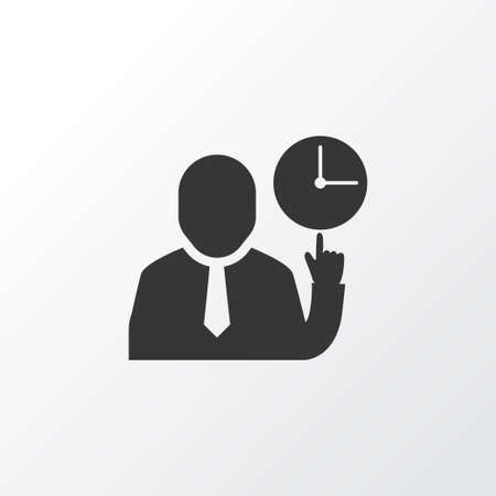 Team time icon symbol. Premium quality isolated clock element in trendy style.