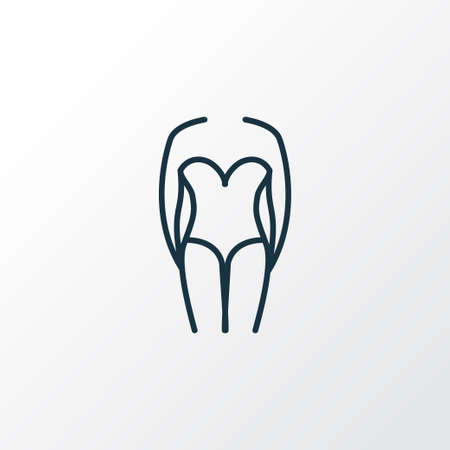 One piece swimsuit icon line symbol. Premium quality isolated swimwear element in trendy style.