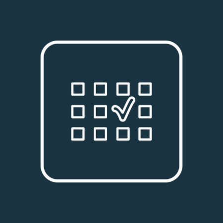 Seat selection icon line symbol. Premium quality isolated place choice element in trendy style. Illustration