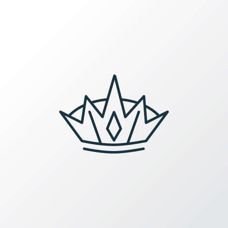 Crown icon line symbol. Premium quality isolated diadem element in trendy style.