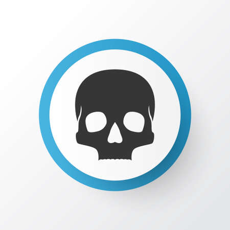 Skull icon symbol. Premium quality isolated skeleton element in trendy style.