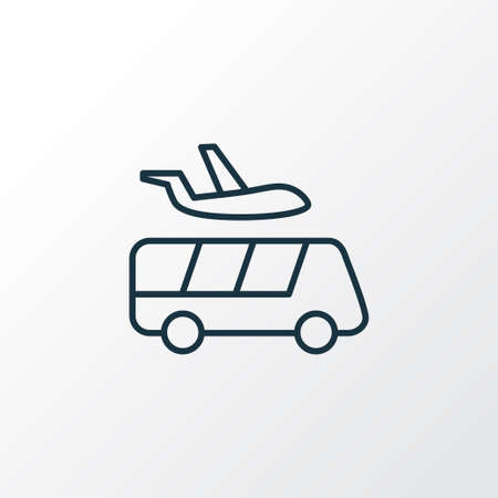 Airport shuttle icon line symbol. Premium quality isolated transportation element in trendy style. Фото со стока - 107025776