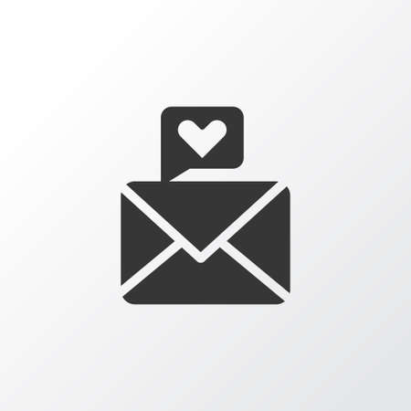 Love letter icon symbol. Premium quality isolated heart message element in trendy style.