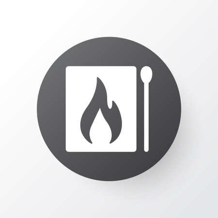Matches icon symbol. Premium quality isolated matchbox element in trendy style.