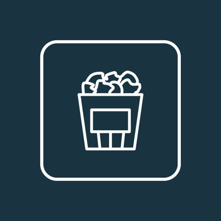 Popcorn icon line symbol. Premium quality isolated cinema snack element in trendy style.