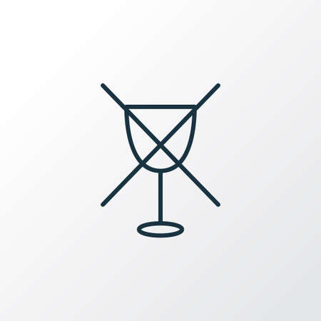 No alcohol icon line symbol. Premium quality isolated wine forbidden element in trendy style. Vectores