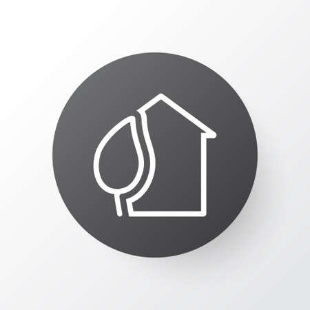 Eco house icon symbol. Premium quality isolated home element in trendy style.