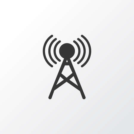 Communication tower icon symbol. Premium quality isolated antenna element in trendy style.