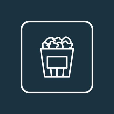 Popcorn icon line symbol. Premium quality isolated cinema snack element in trendy style. Foto de archivo