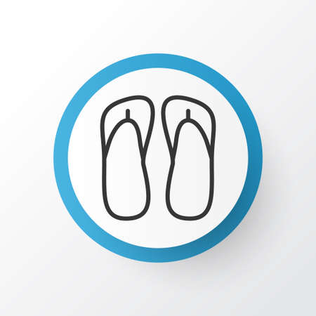 Thongs icon symbol. Premium quality isolated slipper element in trendy style. 스톡 콘텐츠