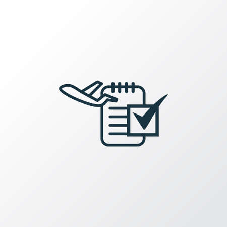 Flight date icon line symbol. Premium quality isolated organizer element in trendy style. Illustration