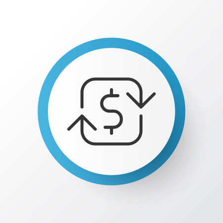Refund money icon symbol. Premium quality isolated recurring payements element in trendy style.