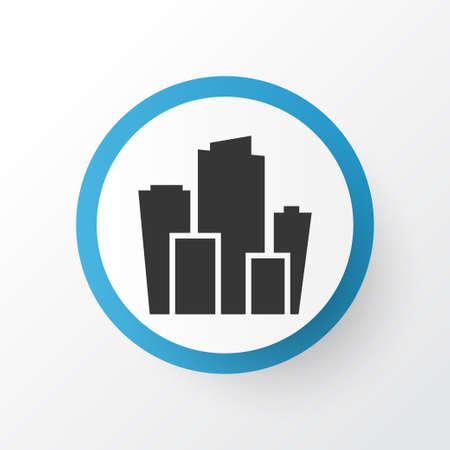 City icon symbol. Premium quality isolated metropolis element in trendy style.