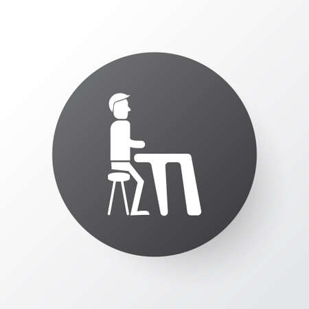 Dinner icon symbol. Premium quality isolated lunch element in trendy style. Illustration