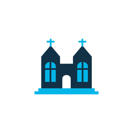Chapel icon colored symbol. Premium quality isolated church element in trendy style.